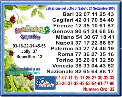 Lotto 24.09.16
