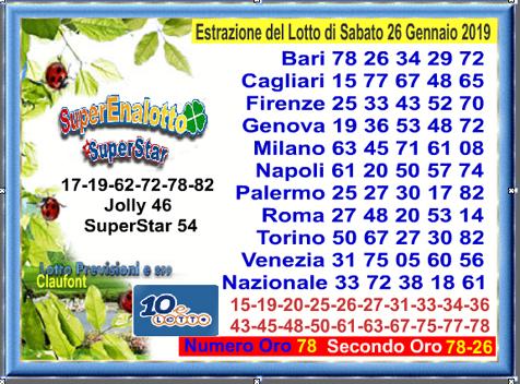 Lotto 26.01 19